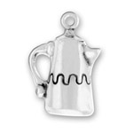Silver Coffee Pot Charm