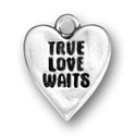 Sterling silver True Love Waits charm