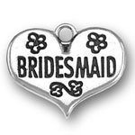 Sterling silver bridesmaid charm