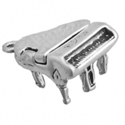 Silver moveable grand piano charm