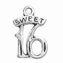 Silver Sweet 16 Charm