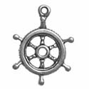 Silver Captain's Wheel charm