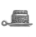 Silver Happy Birthday Charm