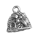 Sterling silver bee hive charm