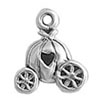 Silver Cinderella's carriage charm