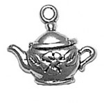 Silver small teapot charm