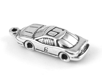 Sterling Silver #6 Racing Car Mark Martin David Pearson Charm
