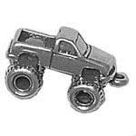 Sterling silver monster truck charm