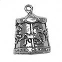 silver merry go round charm