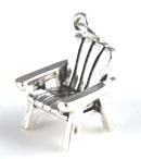 Silver Adirondack or beach chair charm