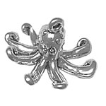 Silver octopus charm or pendant