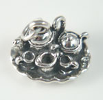 Sterling silver tea set charm