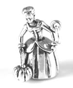 silver fairy godmother charm