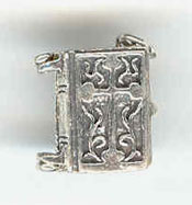 Silver Bible Pendant or Large Charm