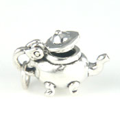 Silver moveable teapot charm