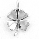 sterling silver lucky four leaf clover charm or pendant