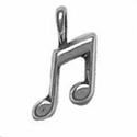 Silver double musical note charm