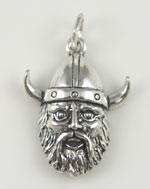 Silver Viking Head Charm
