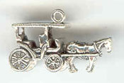 Silver surrey or horse & carriage charm