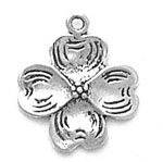 Sterling silver dogwood charm