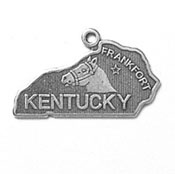Silver Kentucky State Charm