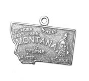 Silver Montana state charm