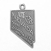 Silver Nevada State charm