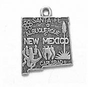 Silver New Mexico state charm