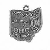 Silver Ohio State Charm