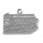 Silver Pennsylvania State Charm