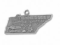 Silver Tennessee State Charm