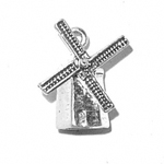 Silver windmill charm (moveable)