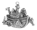 Silver Noah's Ark with Animals Charm