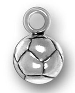 pewter soccer ball charm