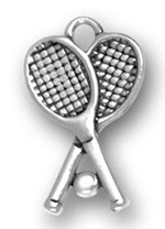 pewter tennis racquet charm