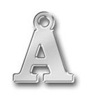 Pewter Letter A Charm