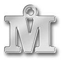 Pewter Letter M Charm