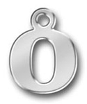 Pewter Letter O Charm
