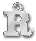 Pewter Letter R Charm