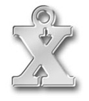 Pewter Letter X Charm