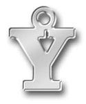 Pewter Letter Y Charm