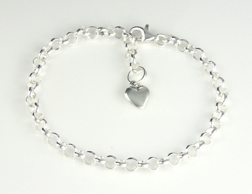 Sterling Silver 6in Kids Bead Bracelet
