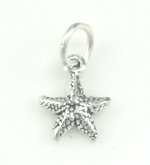 Silver tiny starfish charm