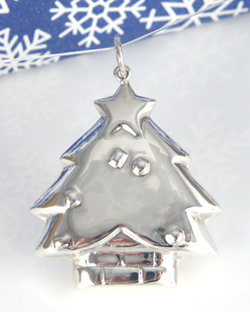 Sterling silver christmas pendants tree snowman aloadofball Image collections