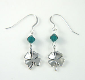 St. Patrick's Day Four Leaf Clover Earrings